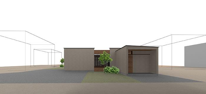 ARCHITECT 03 takuya hasegawa : 長谷川 拓也 type-03 二つの中庭と平屋